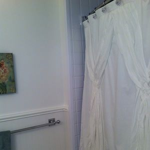 Gently used Anthropologie Shower Curtain